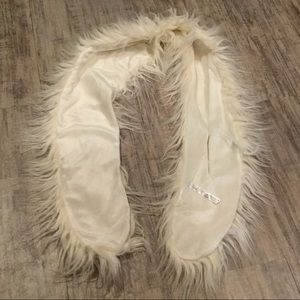 Urban Outfitters Accessories - New Urban Outfitters White Shaggy Faux Fur Scarf